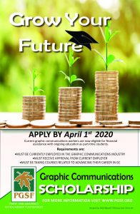 2019 Industry Scholarship Poster
